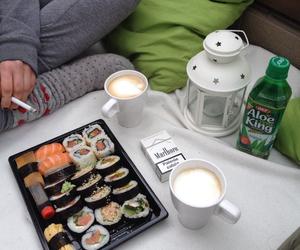 sushi, food, and coffee image