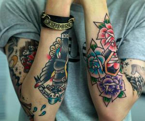 seoul, sleeve tattoo, and tattoo image