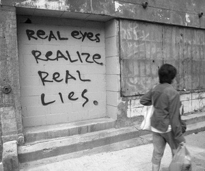 black and white, lies, and reality image