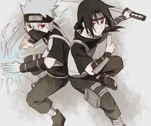 itachi, kakashi, and naruto image