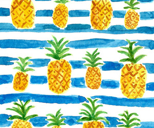 pineapple, fruit, and watercolor image