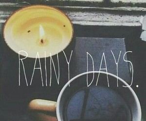 rain, coffee, and autumn image