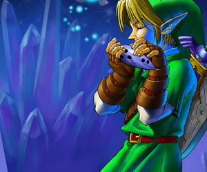 link, videogame, and ocarina of time image