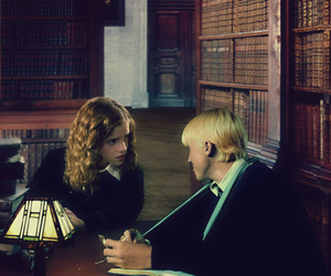 draco malfoy, hermione granger, and fanfiction image