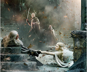 cate blanchett, christopher lee, and the hobbit image