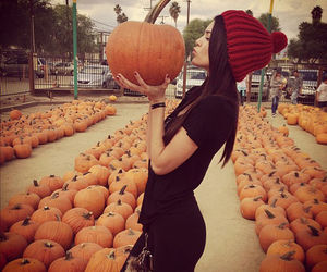 Halloween, pumpkin, and kendall jenner image