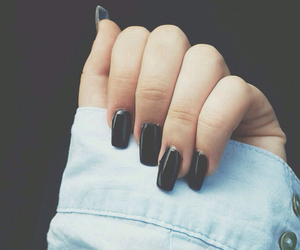 nails, black, and grunge image