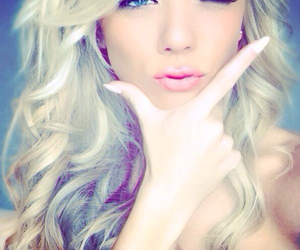 blond, eyes, and girl image