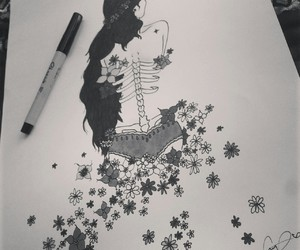art, black and white, and crown image