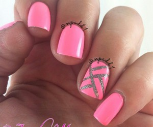 designs, nails, and pink image