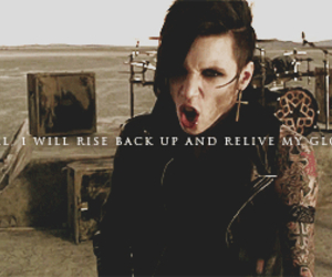 black veil brides, andy biersack, and in the end image