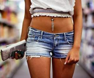 girl, shorts, and piercing image