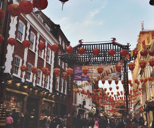china, chinatown, and festival image