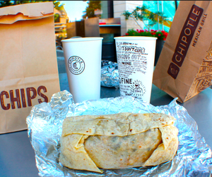 chipotle, food, and yummy image
