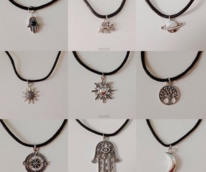 necklace, fashion, and flower image