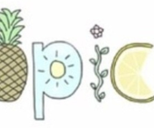 tropical, pineapple, and summer image
