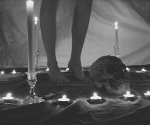 candle, b&w, and dark image