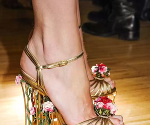 cage, floral, and heels image