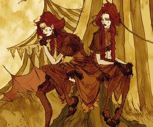 autumn, circus, and girl image