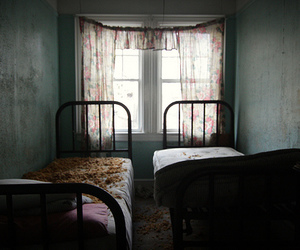 abandoned, bedroom, and resort image