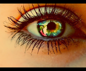 eyes, girl, and love image