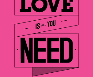 love, pink, and the beatles image