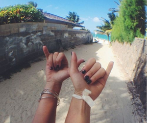beach, friends, and love image