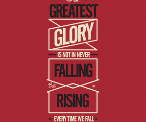 quote, glory, and falling image