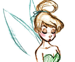art, drawing, and tinker bell image