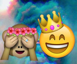 emoji, iphone, and monkey image