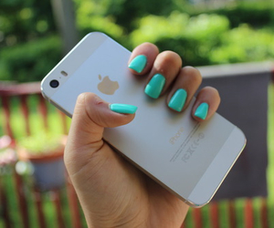 iphone, nails, and pretty image