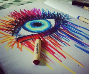 colourful, eyes, and drawing eyes image