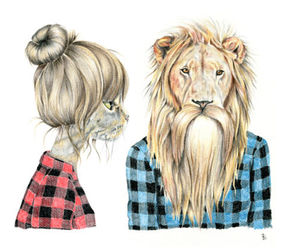 beard, flannel, and caro image