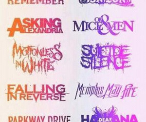 asking alexandria, pierce the veil, and sleeping with sirens image