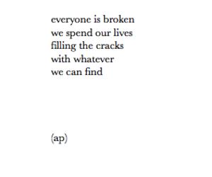 quote, broken, and life image