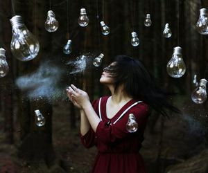 girl and lightbulb image