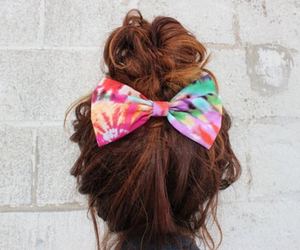 hair, bow, and brown image