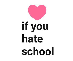 hate, heart, and if image