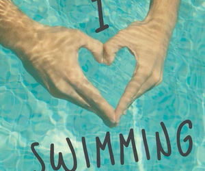 heart, swimming, and water image