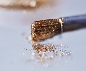 glitter, gold, and Brushes image