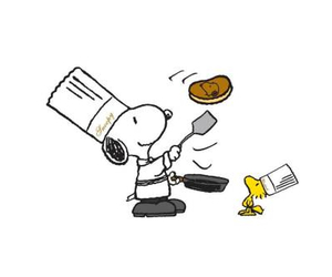 cook, cooking, and snoopy image