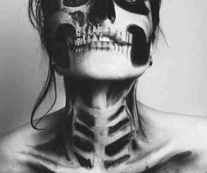 black, girl, and skull image