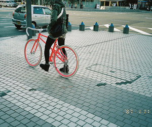 bike, city, and film image