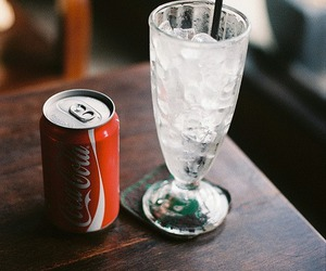 drink, ice, and coke image