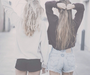 best friends, fashion, and shorts image