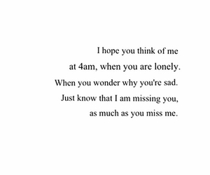 lonely, missing you, and sad image