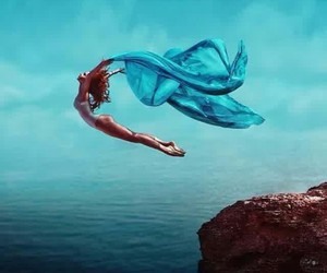 blue, sea, and dance image