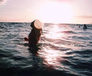 adventure, beach, and girl image