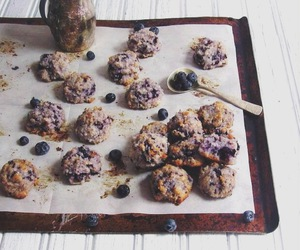 blueberry, coconut, and Cookies image