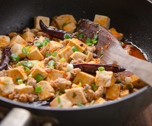 chinese, sichuan, and tofu image